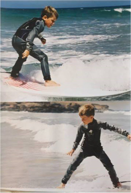 Surfing in Moana since 4 years old